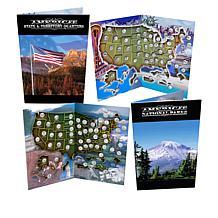 State/Territorial Quarters & National Park Quarters in 2 Map Folders