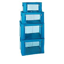 StoreSmith Set of 4 Collapsible Storage Boxes
