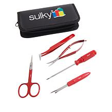 Sulky 5-piece Sewing and Embroidery Tool Kit with Case