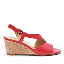 Tahari Sally Leather Wedge Sandal