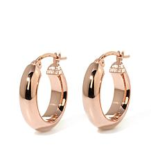 Technibond® High-Polish Petite Hoop Earrings