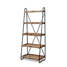 """The Gerson Company 66.9""""H Metal and Wood 5-tier Shelf"""
