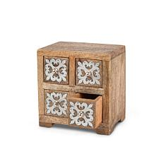 The Gerson Company Mango Wood with Metal Inlay Heritage 4-drawer Box
