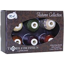 Thimbleberries Autumn Cotton Thread - 6 Pack