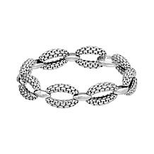 Tiffany Kay Studio Sterling Silver Purl Knit-Textured Link Bracelet