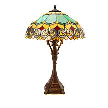 Tiffany-Style Green Jade Baroque Table Lamp
