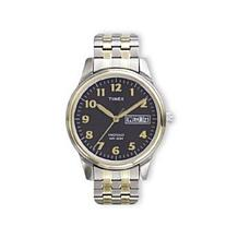 Timex Men's 2-Tone Charcoal Gray Dial Easy Reader Watch