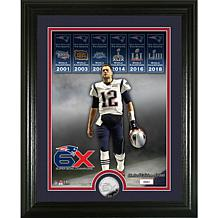 Tom Brady 6-time Super Bowl Champion Silver Coin Photo Mint