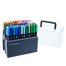 Tombow 108-piece Dual Brush Pen Set with Storage Case