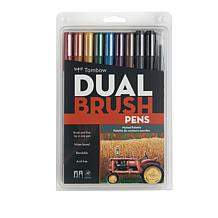 Tombow Dual Brush Pen 10-pack - Muted