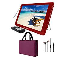 """Trexonic 12"""" Portable LCD TV with Carry Bag, Earbuds and Antenna"""