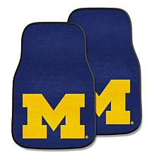 University of Michigan Carpet Car Mat Set - 2 Pieces