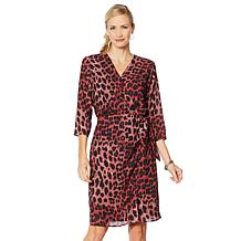 Vanessa Williams Essential V-Neck Side Tie Wrap Dress
