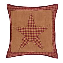 """VHC Brands Ninepatch Star 16"""" x 16"""" Quilted Pillow"""