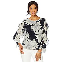 80655f82c83cd Vince Camuto Ruffle-Sleeve Print Blouse