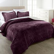 Warm & Cozy Faux Fur 3-piece Comforter Set