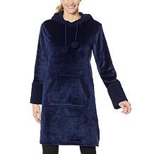 Warm & Cozy Hooded Tunic Robe with Kangaroo Pocket
