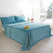 Warm & Cozy Plush Blanket and Plush Sheet Set