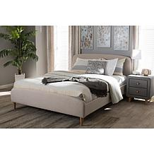Mia Fabric Upholstered Platform Bed