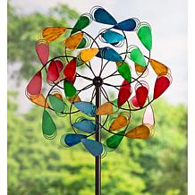 Wind and Weather Metal Plume Design Wind Spinner