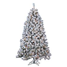 Gerson 7' Lighted Flocked PVC Montana Pine Tree
