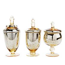 Winter Lane Set of 3 Apothecary Jars - Small