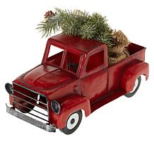 Winter Lane Vintage Pick-Up Truck with Tree, Lights and Timer