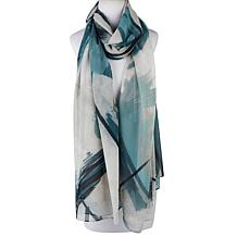 WynneLayers Abstract Painted Print Scarf