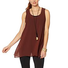 WynneLayers Chiffon Overlay Tunic Tank