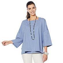 WynneLayers Oversized Square Neck Popover Top