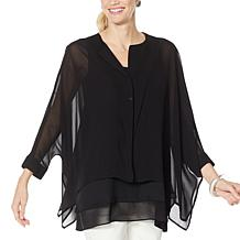 WynneLayers Unstructured Chiffon Shirt