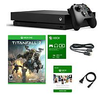 "Xbox One X 1TB 4K Console with ""Titanfall 2"" Game and Game Pass Trials"