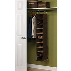 10-Pocket Wide Hanging Organizer - Coffee Linen