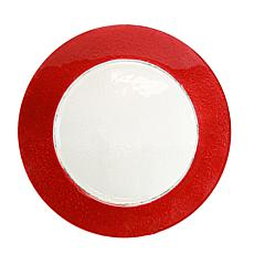"10 Strawberry St Colored Rim 13"" Charger Plate - 6"