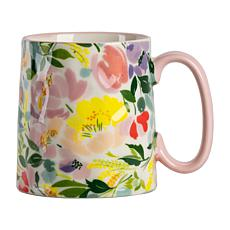 10 Strawberry Street Bella Pink Peony Watercolor Mug 4-Pack