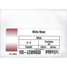 "100 A6 Envelopes - White,  4-3/4"" x 6-1/2"""