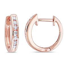 10K Diamond Cuff Earrings