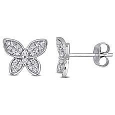 10K Gold 0.20ctw Diamond Butterfly Stud Earrings
