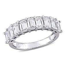 10K White Gold 2.25ctw Created Moissanite Semi-Eternity Ring