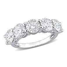 10K White Gold 4.50ctw Created Moissanite Semi-Eternity Band Ring