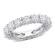 10K White Gold 4ctw Created Moissanite Eternity Band Ring