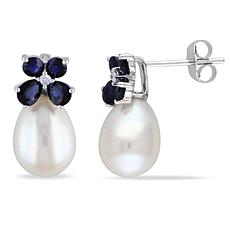 10K White Gold 8-8.5mm Freshwater Pearl Earrings