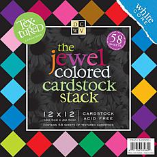 "12"" x 12"" Jewel-Colored Cardstock Stack"