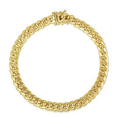 14K 6.65mm Semi-Solid Miami Cuban Bracelet with Figure 8 - 8-1/2""
