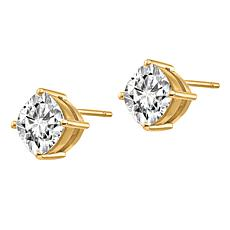 14K Gold 1.2ctw Moissanite Cushion-Cut Stud Earrings
