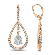 14K Gold 1.5ctw White Diamond Pear-Shaped Drop Earrings