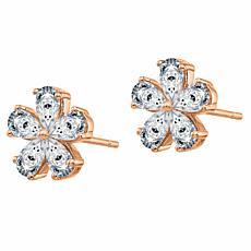 14K Gold 2.1ctw Moissanite Flower Earrings