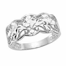 14K Gold Diamond-Cut Wave Ring