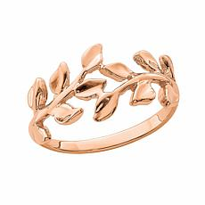 14K Gold Leaf Band Ring