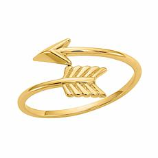 14K Gold Polished Arrow Ring